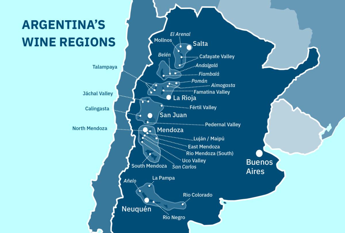 Wine regions Argentina