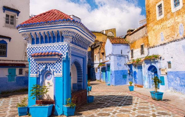 Watch the world go by from Chefchaouen's central square