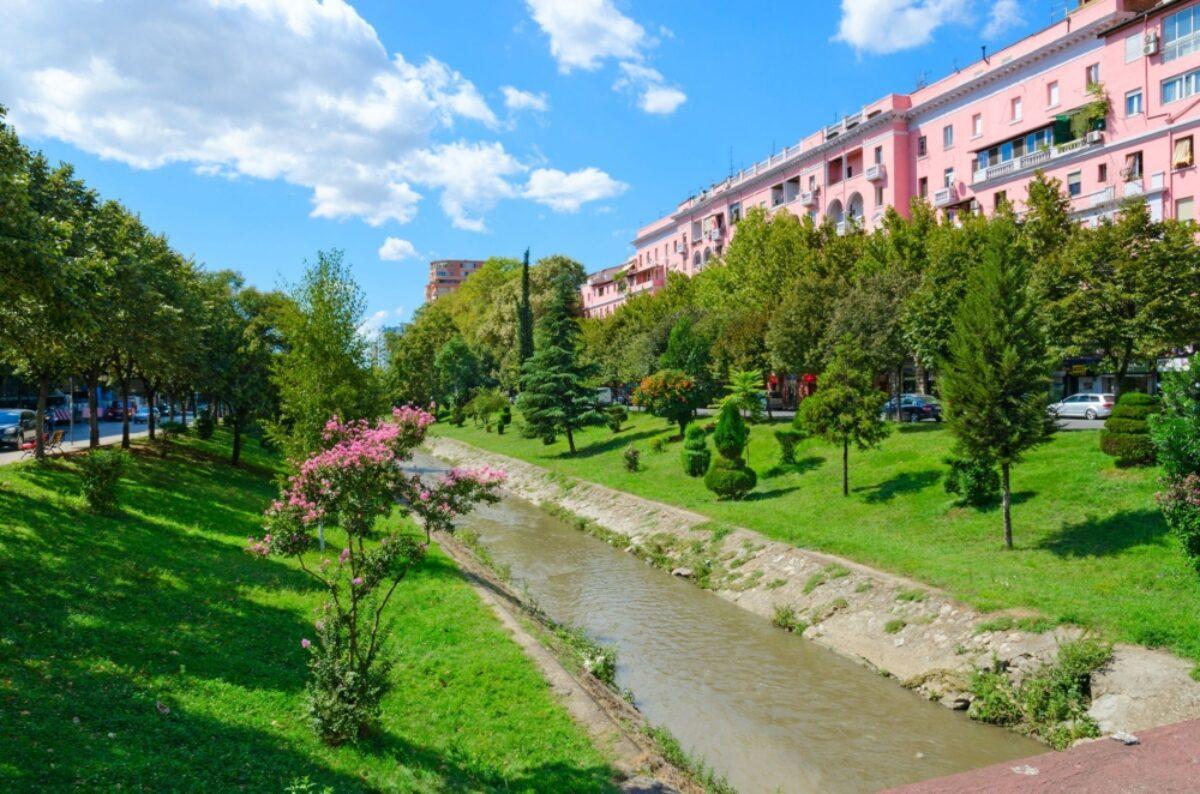 Albania Tirana Lana river