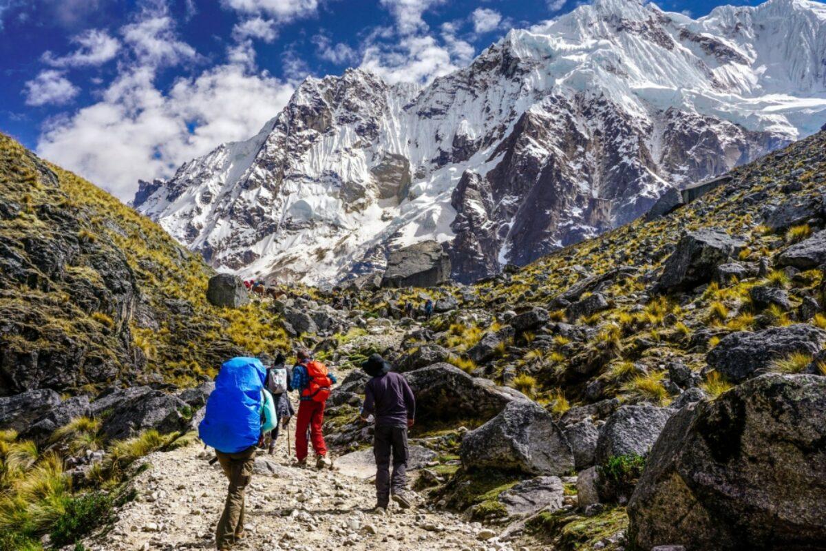 Approaching Salkantay Mountain peru
