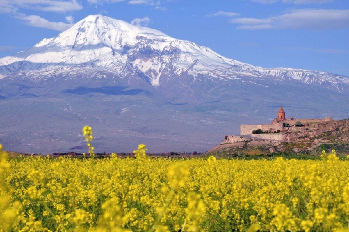Armenia Ararat near the border with Turkey