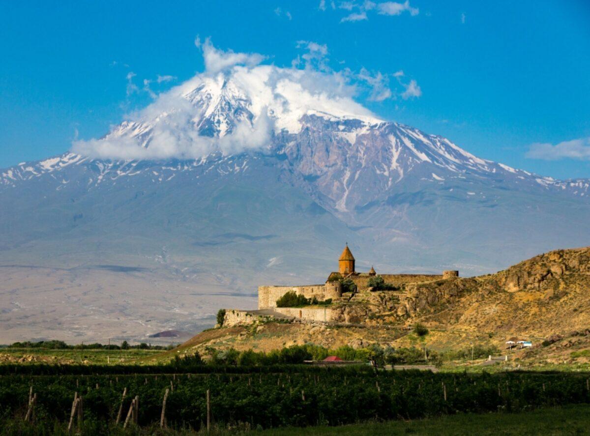 Armenia Tatev Monsastery Mt Aratat background