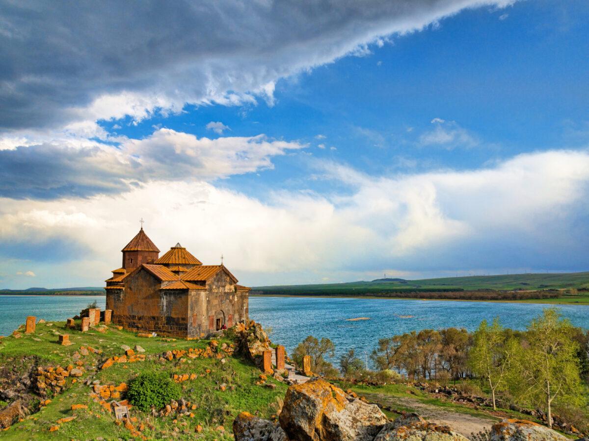 Armenia lake Sevan Hayravank monastery
