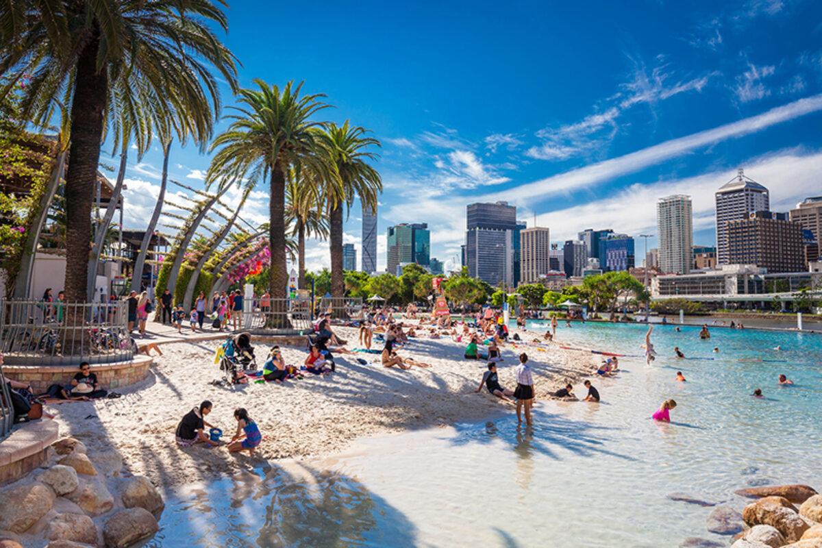 Aus Brisbane Streets Beach in South Bank Parkland