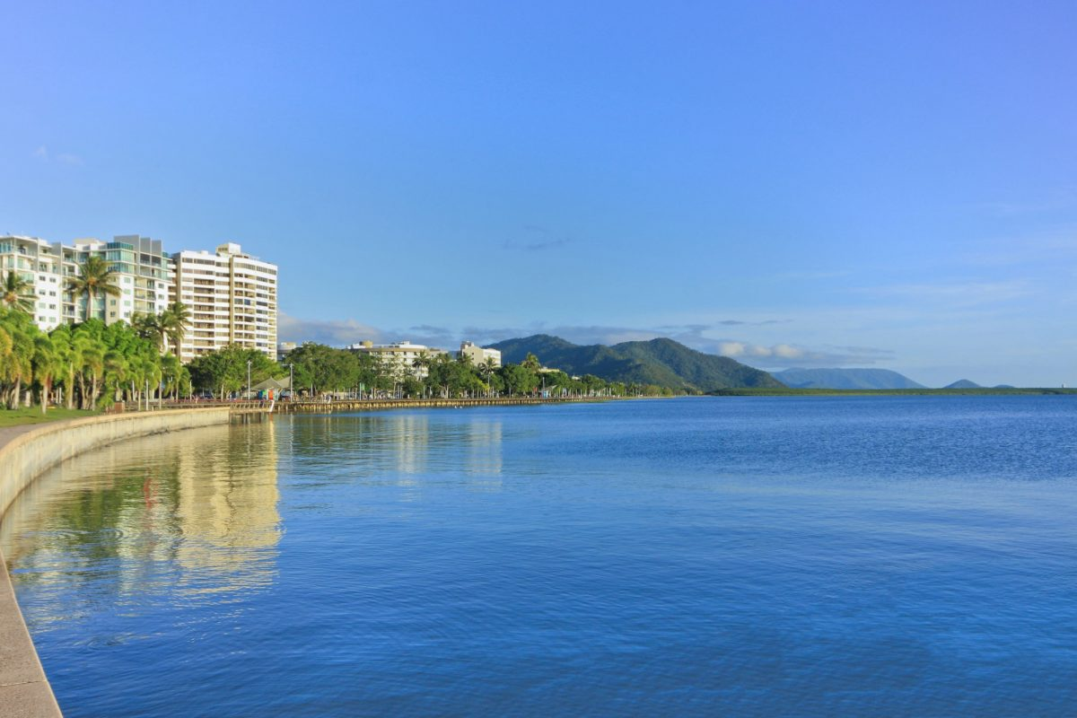Aus Cairns view looking across the Cairns esplanade