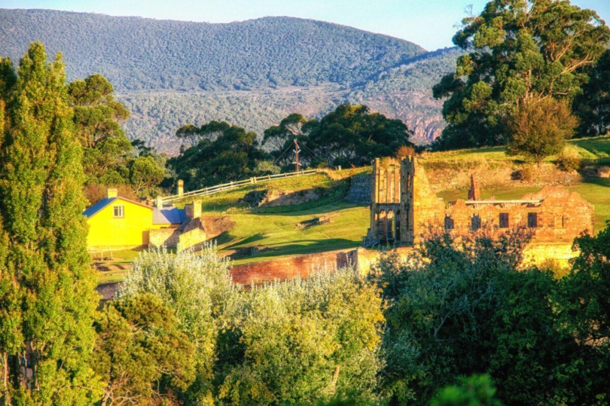 Aus Tasmania Building ruins at Port Arthur
