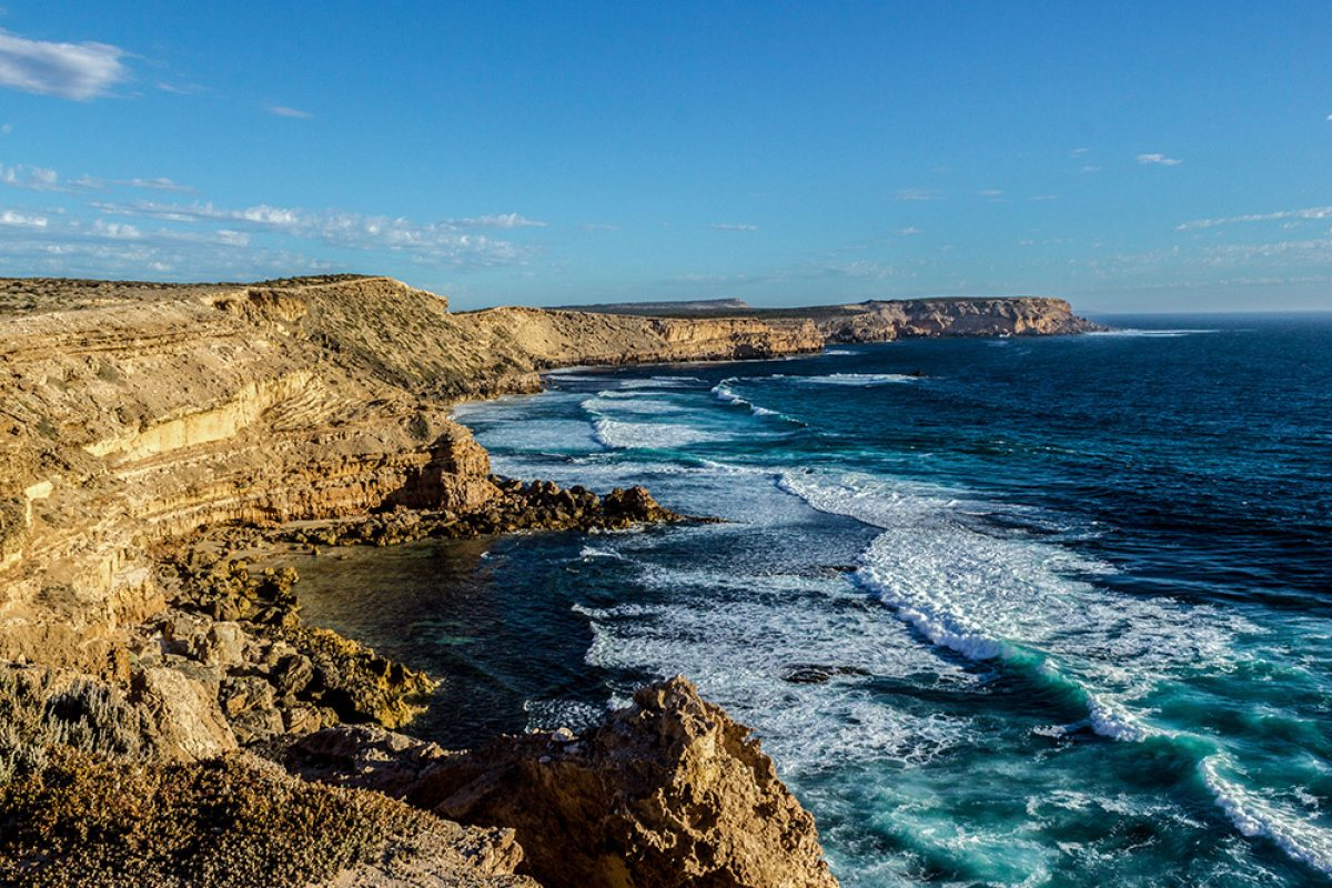 Aus cliffs near port lincon