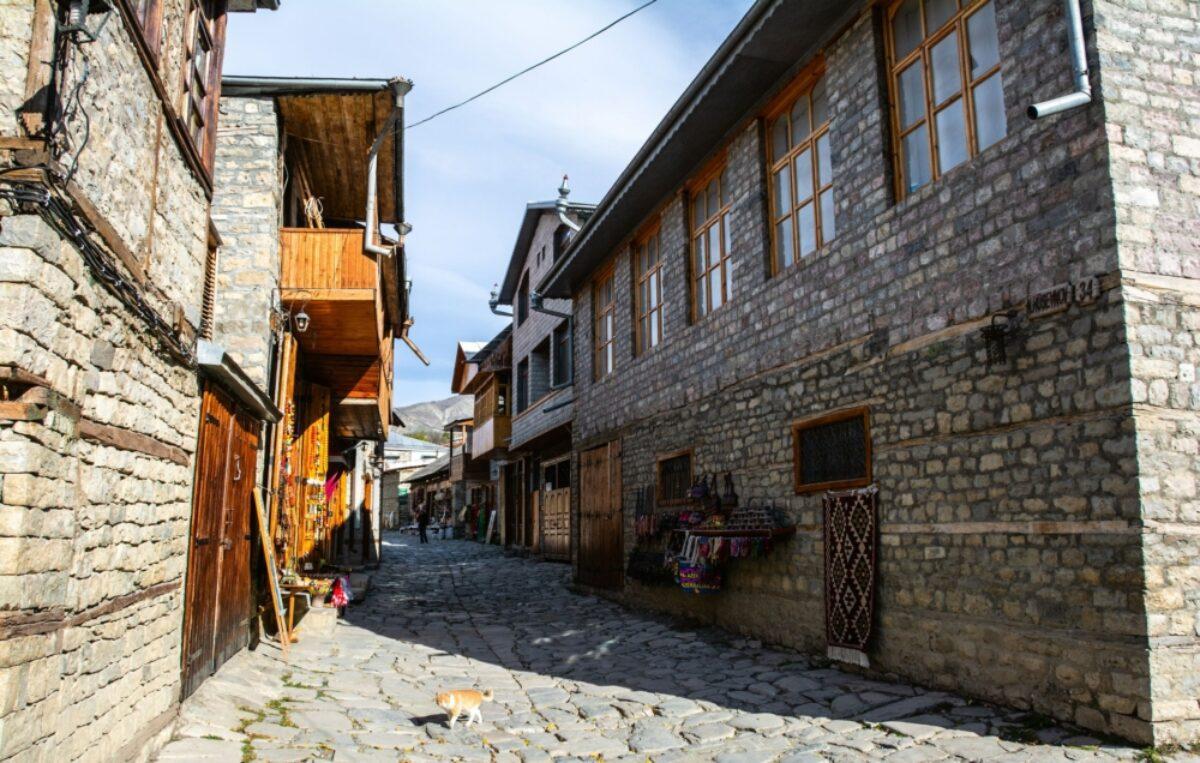 Azerbaijan Lahij streets