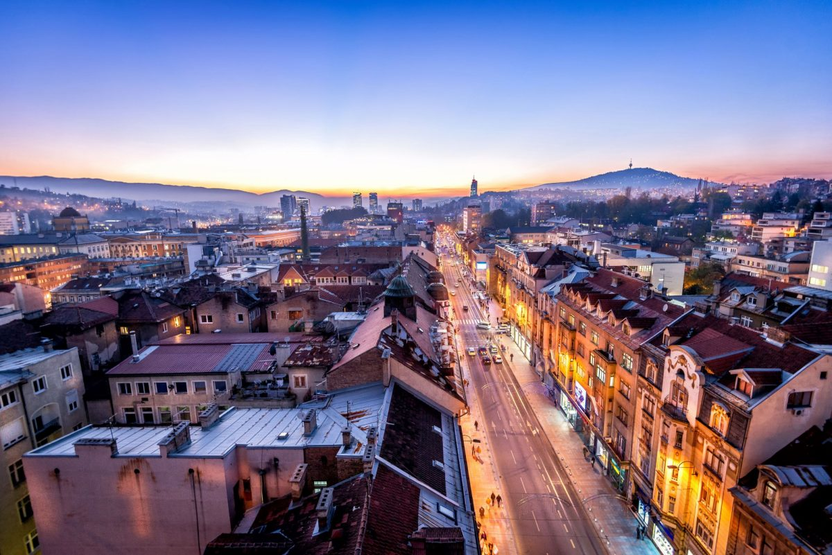 Bosnia Sarajevo sunset