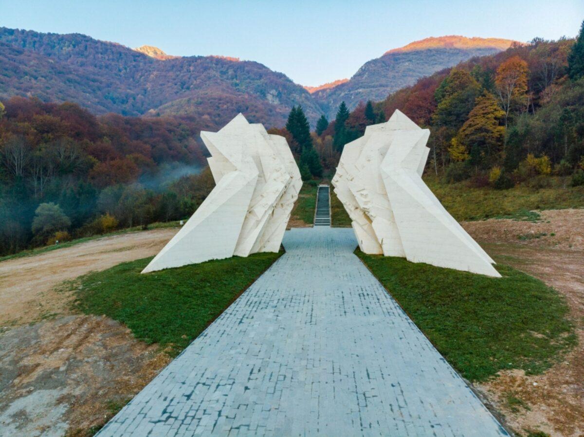 Bosnia Sutjeska National Park Tjentiste World War II monument