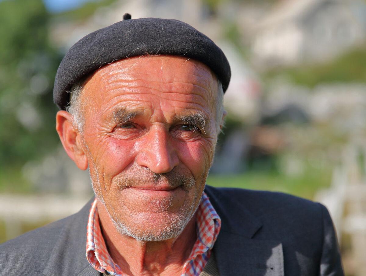 Bosnia lukomir elderly man landscape