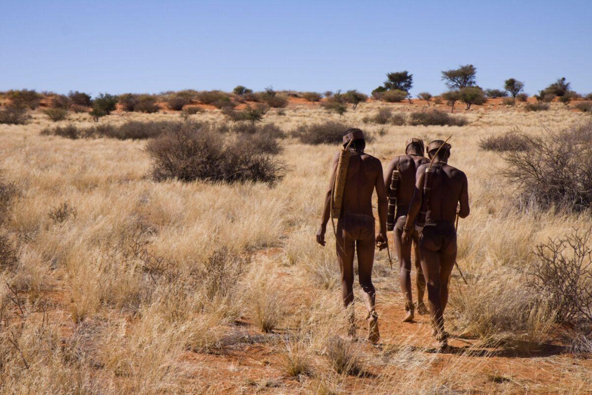 Zambia bushmen tribal