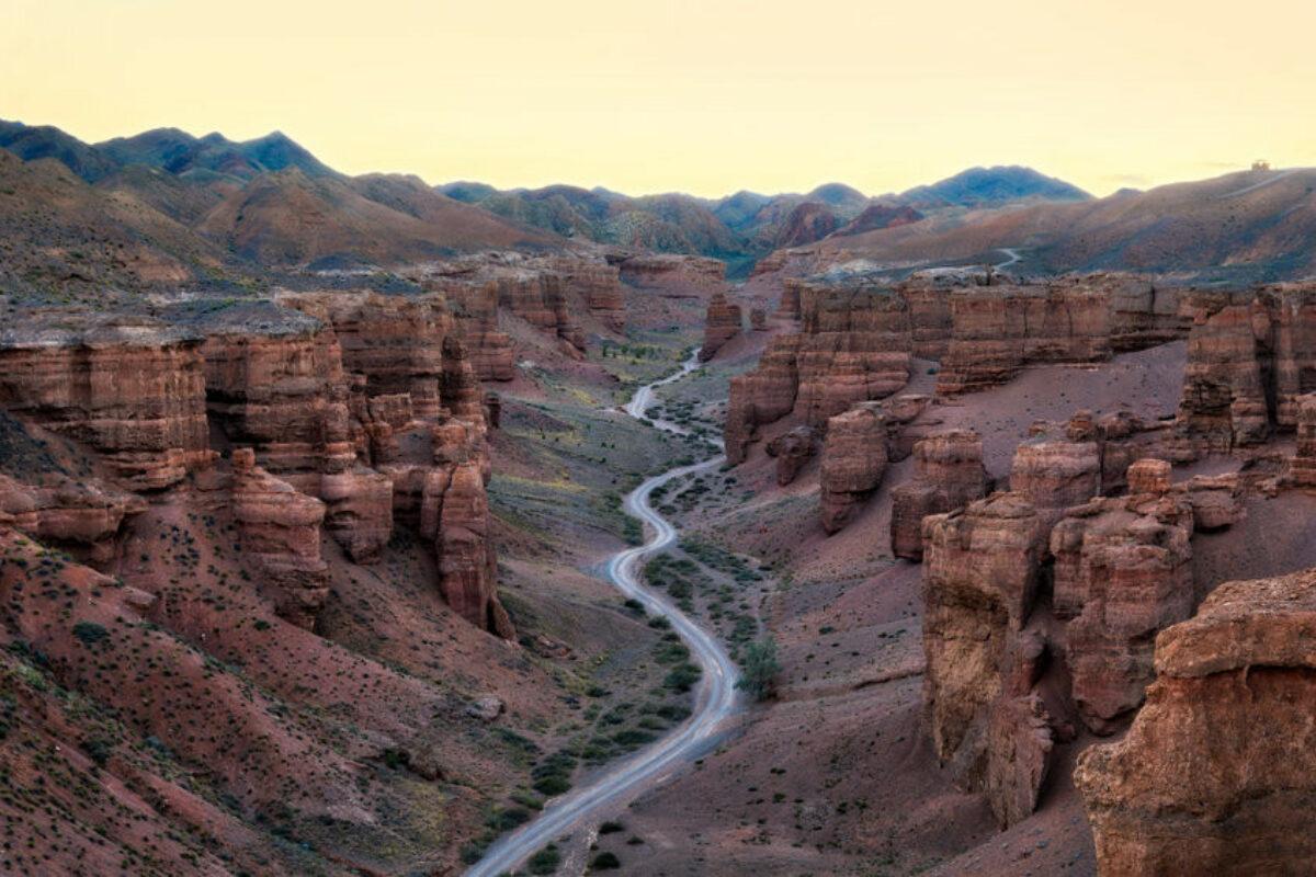 Charyn Canyon in South East Kazakhstan