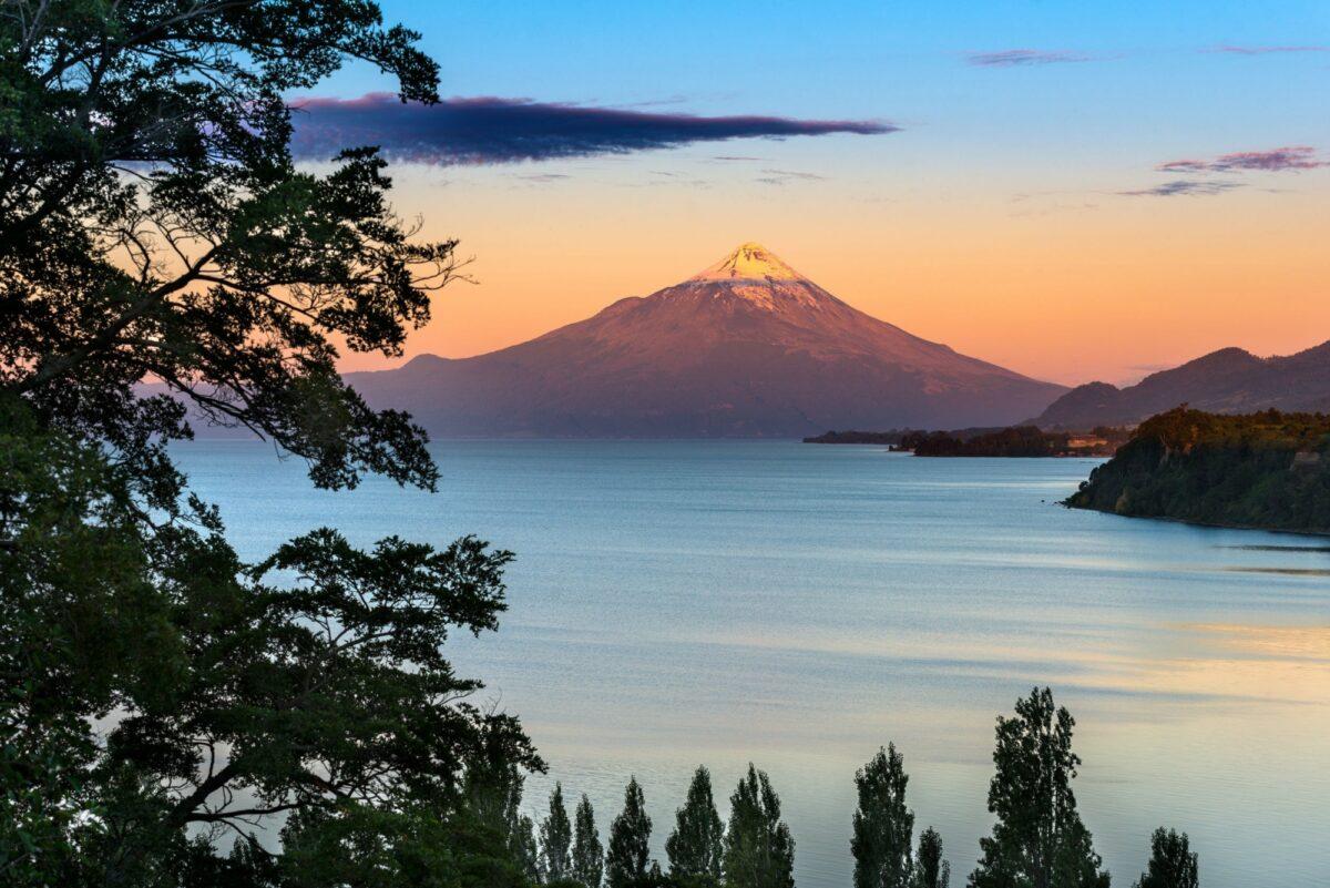 Chile Lake District Osorno Volcano and Lake L Lanquihue