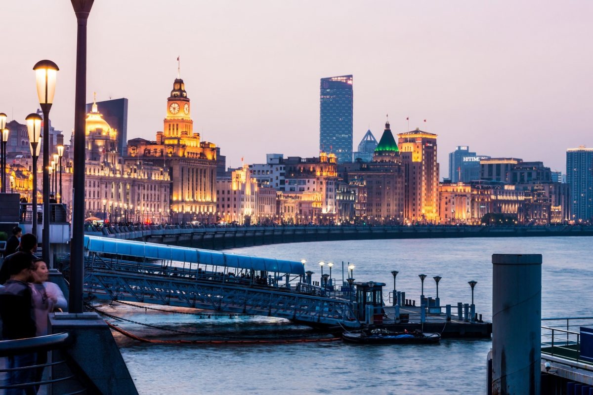 China Shanghai the bund night
