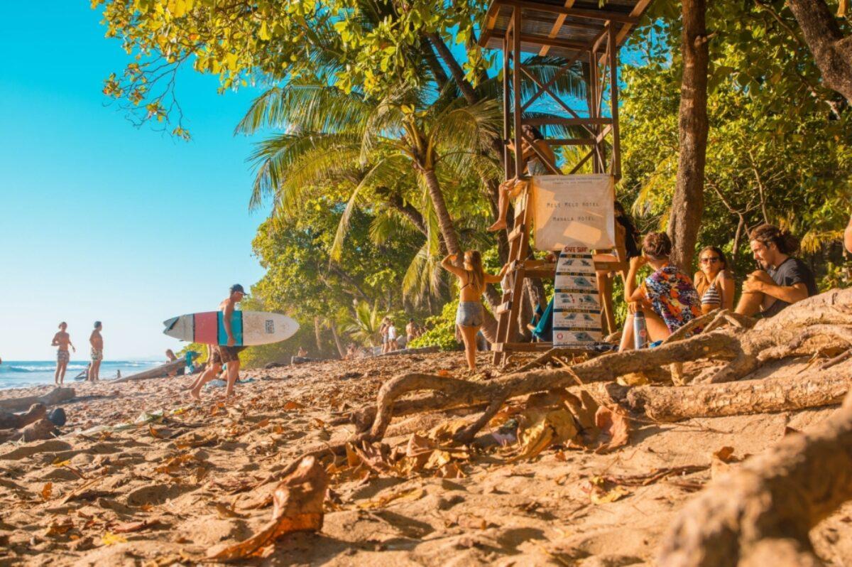 Costa Rica Santa Teresa surfers