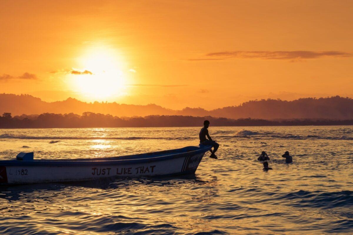 Costa Rica puerto viejo beachsunset