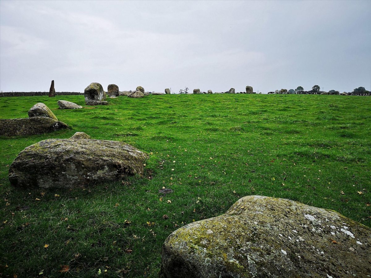 Cumbria known as Long Meg and Her Daughters England UK
