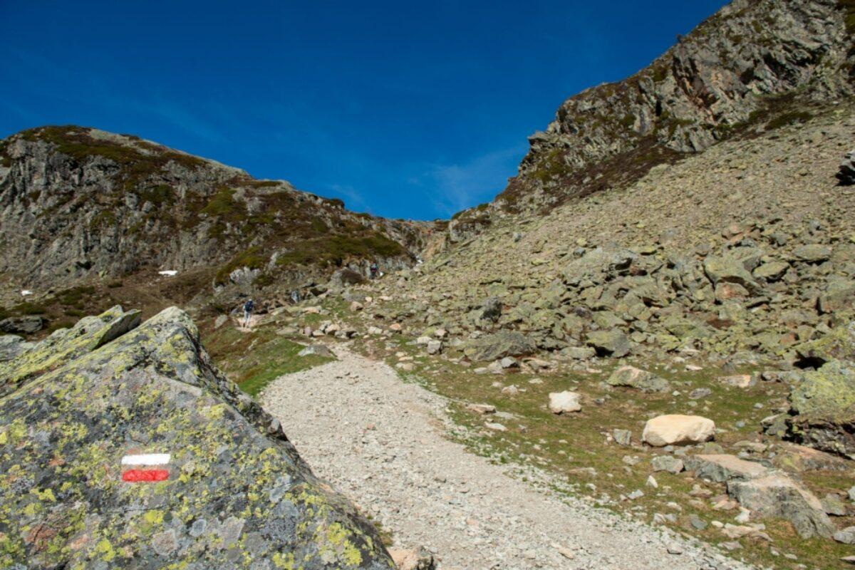 Europe walking GR route waymarker