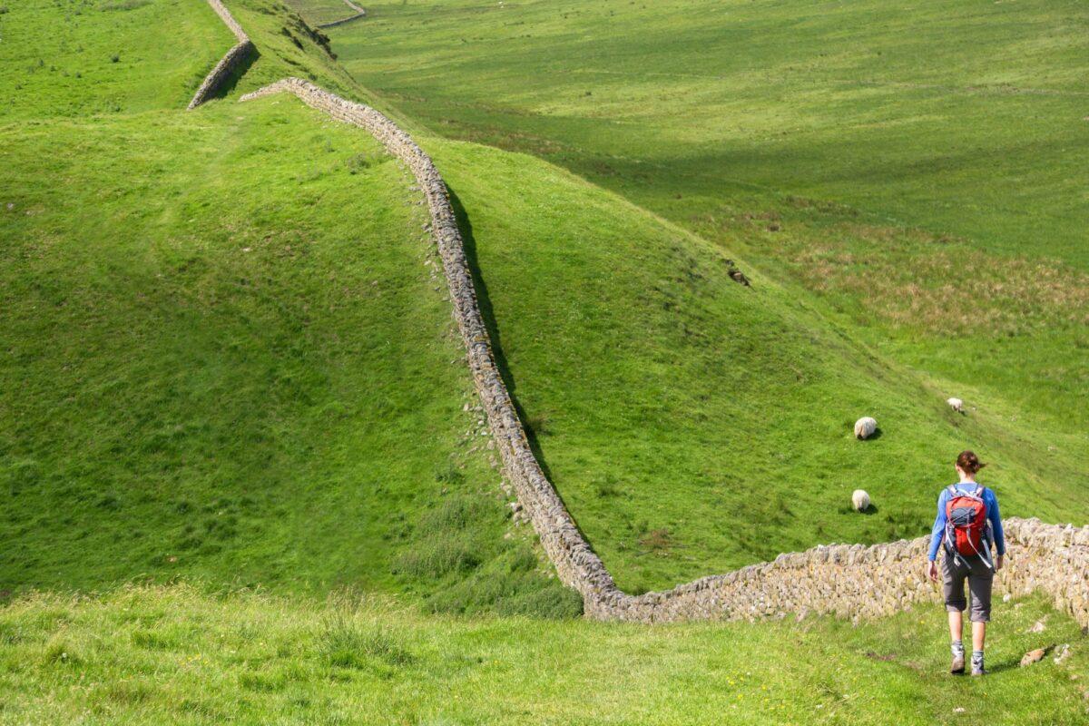 Family Hadrians Wall UK