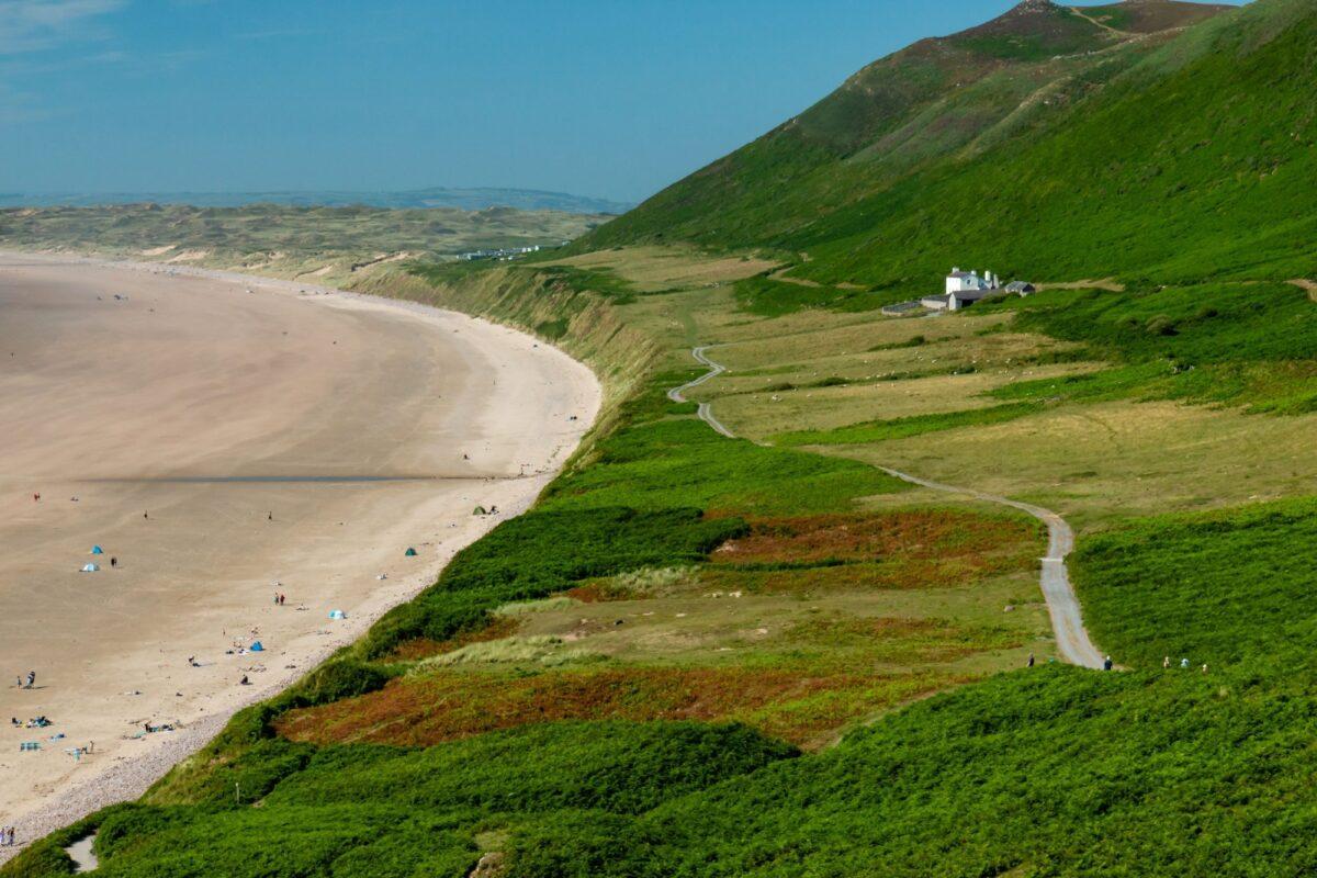 Gower coast path Wales UK