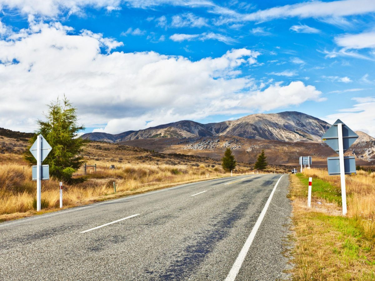 Great Alpine highway Arthurs Pass New Zealand