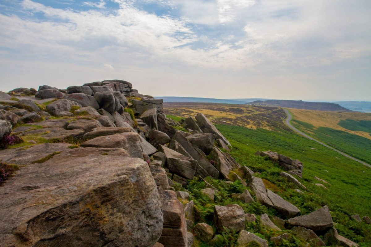 Higger Tor from Stanage Edge Peak District