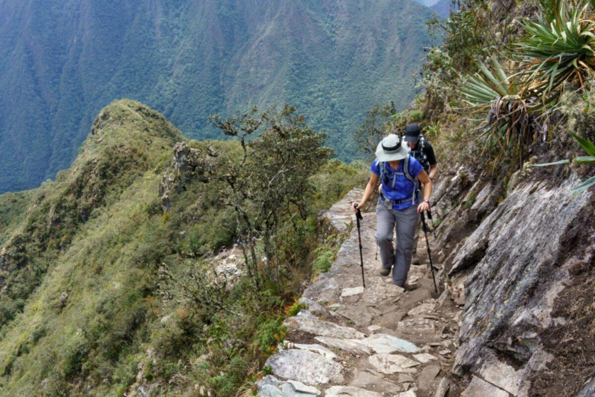 Inca trail of Machu Picchu peru