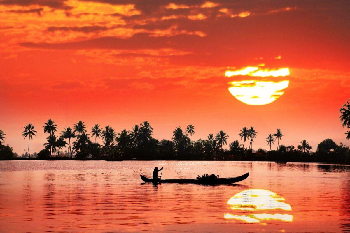 India Kerala sunset