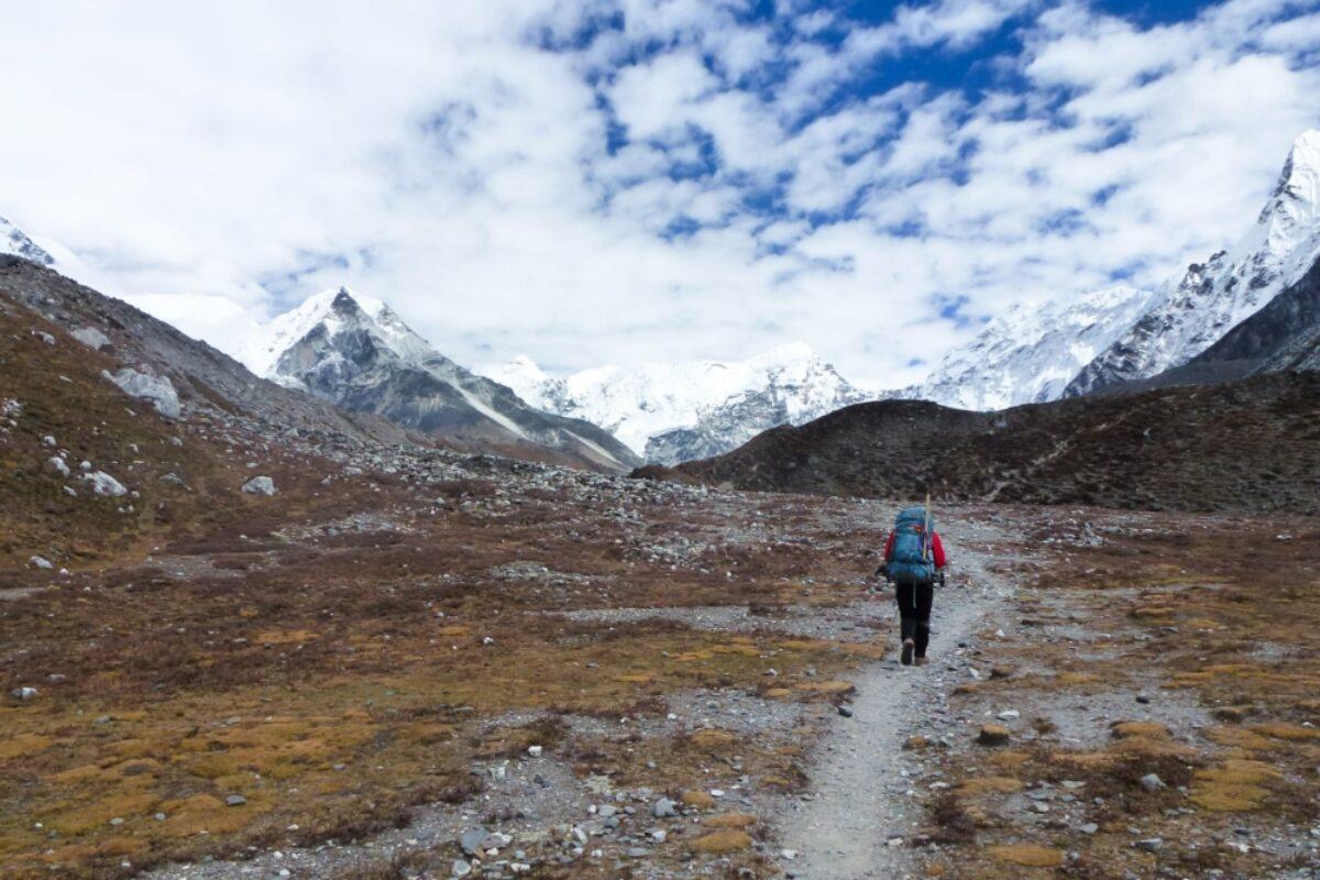 Island Peak in Chukkung Everest Base Camp trek Nepal