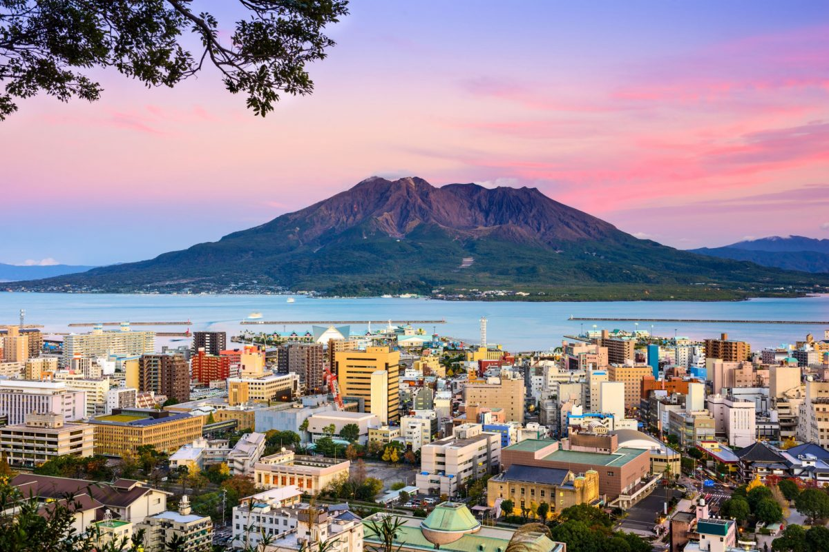 Japan Kagoshima volcanoes