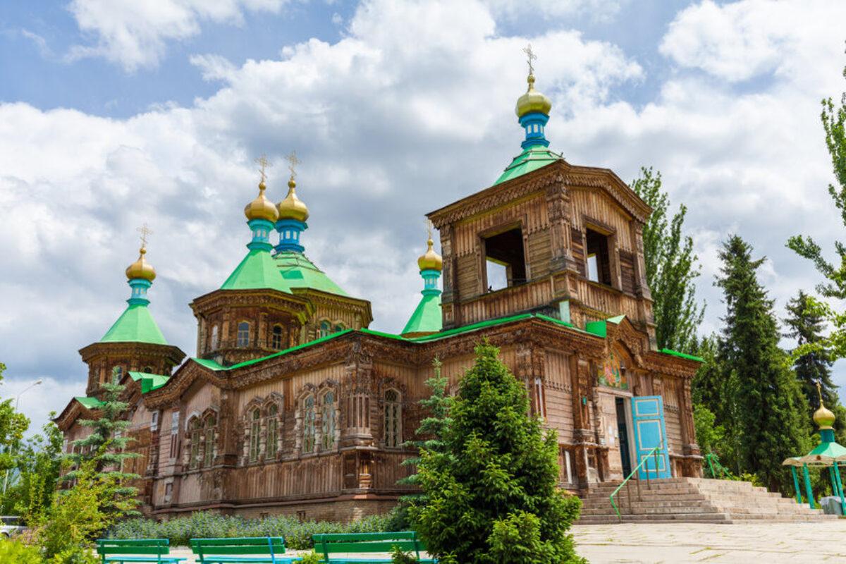 Kyrgyzstan Orthodox church of the Holy Trinity in the city of Karakol Issyk Kul region
