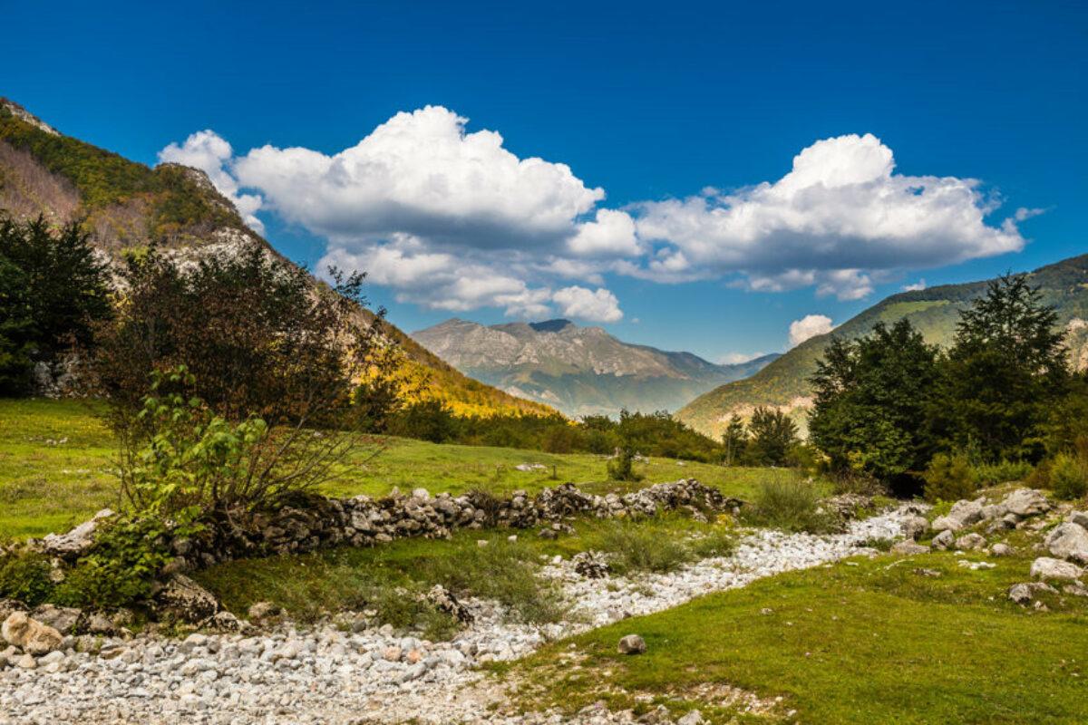 Landscape of Prokletije National Montenegro Europe