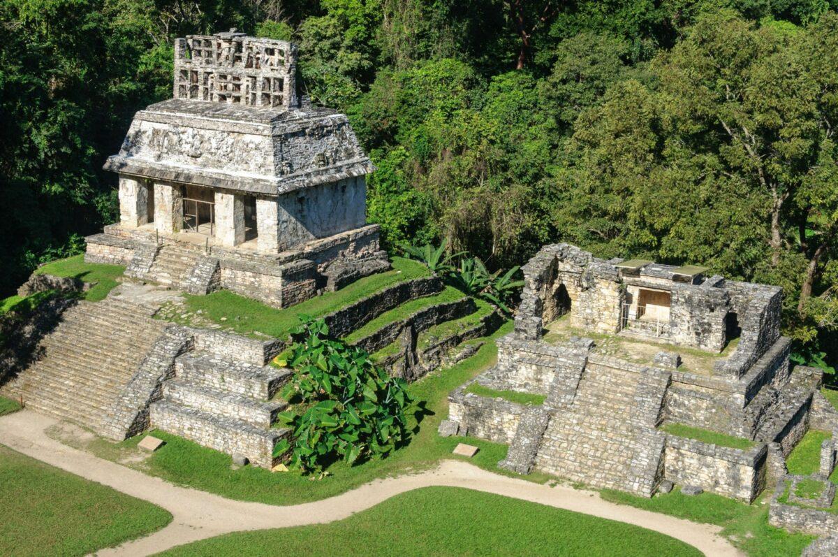 Mexico Palenque temple of the sun