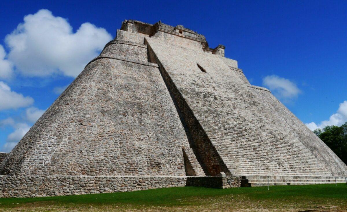 Mexico Yucatan Uxmal mayan ruins Pyramid