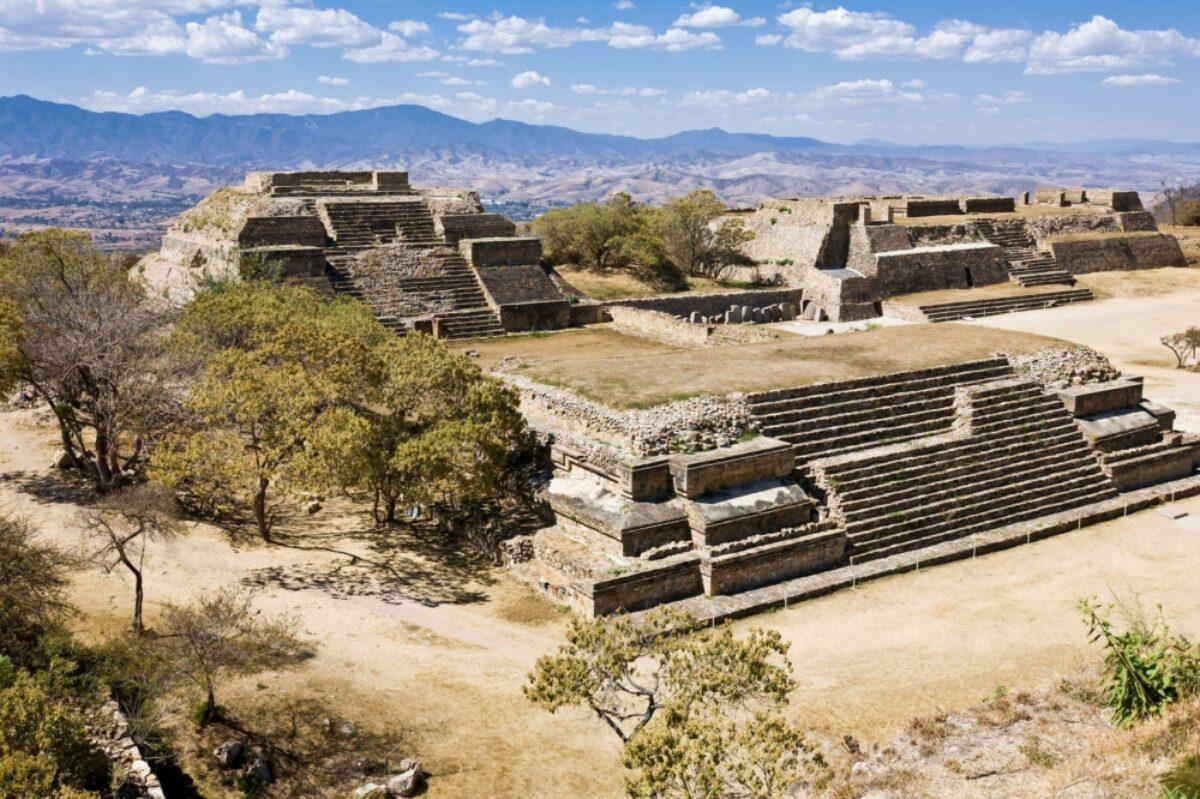 Monte Alban the ruins of the Zapotec civilization in Oaxaca Mexico