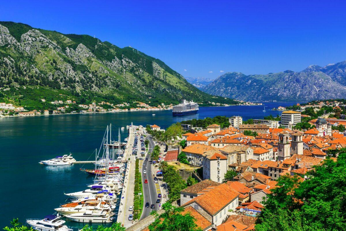 Montenegro Kotor from Lovcen Mountain