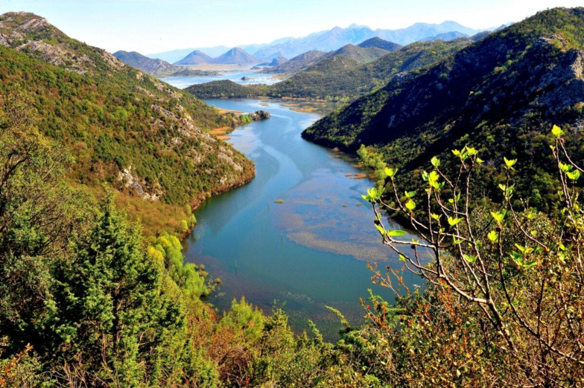Montenegro Skader Lake NP Crnojevica river view