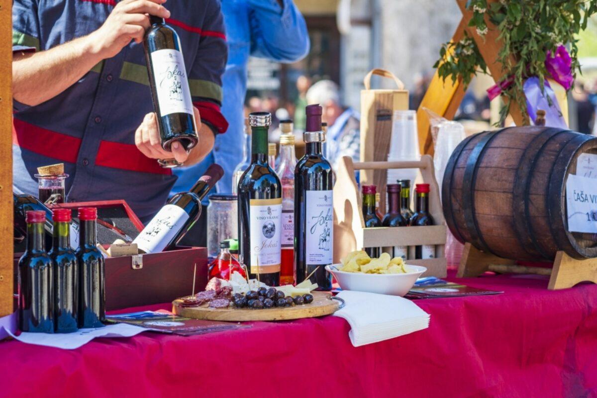 Montenegro Virpazar wine at market