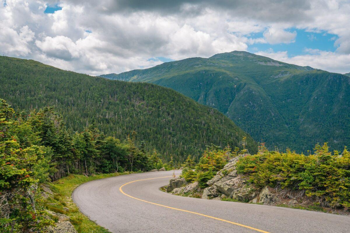 Mount Washington Auto Road in the White Mountains of New Hampshire USA