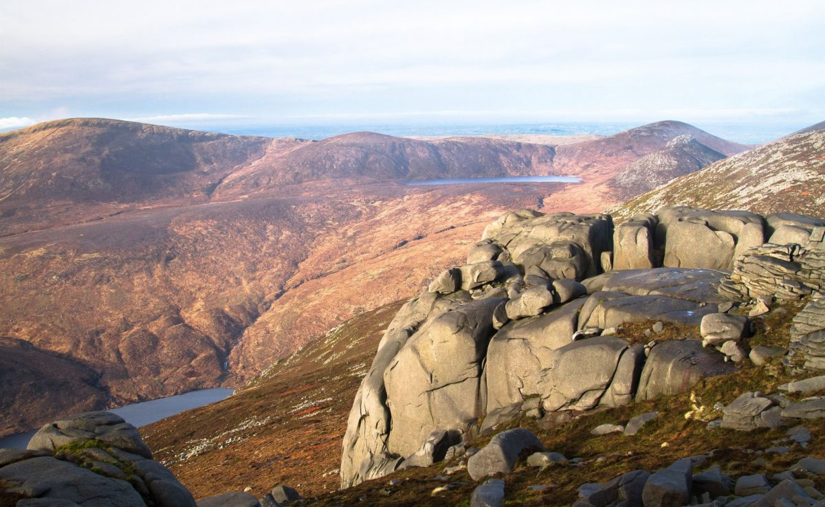 Mourne Mountains Slieve Binnian in the Mourne Mountains Northern Ireland UK