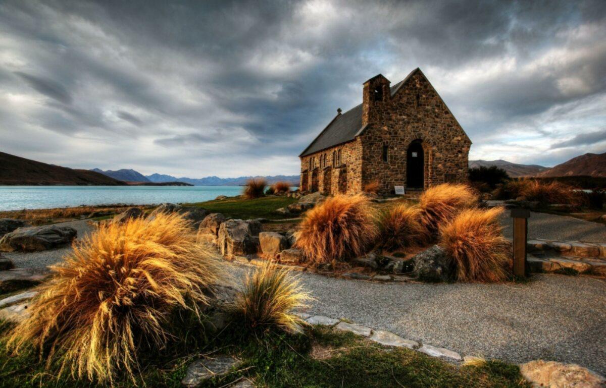 NZ Lake Tekapo autumn