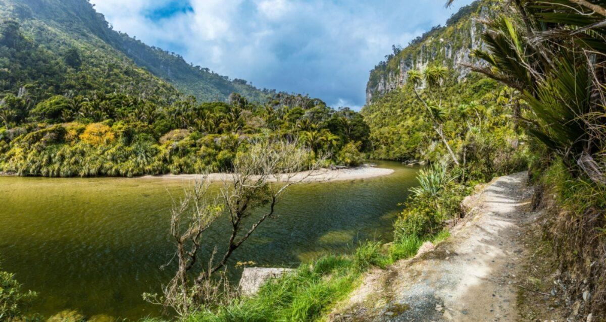 NZ Punakaiki Porarari river track near Punakaiki