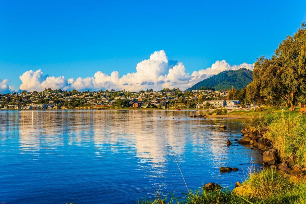 NZ lake Taupo townview