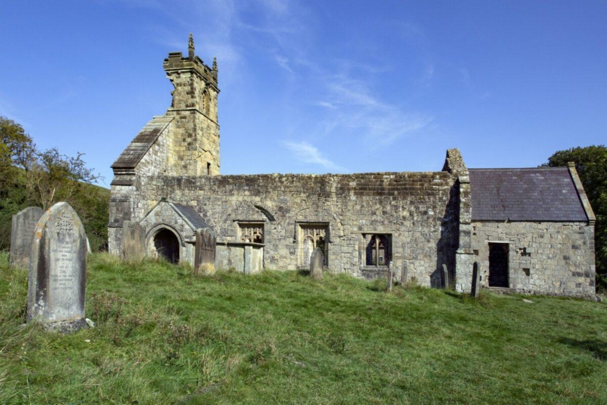 Ruined church at Wharram Percy