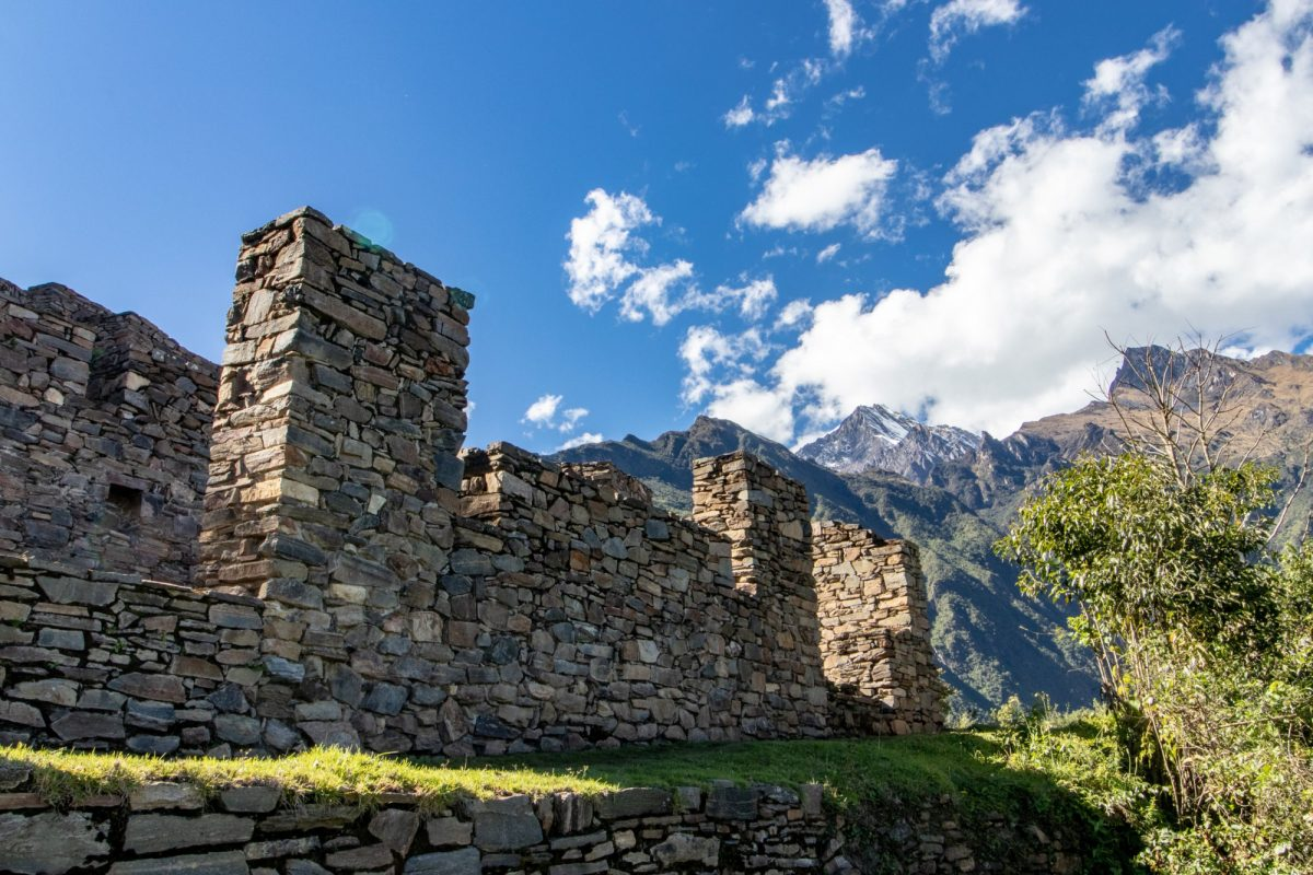 Ruins at the Inca Site of Choquequirao Andes Mountains Peru