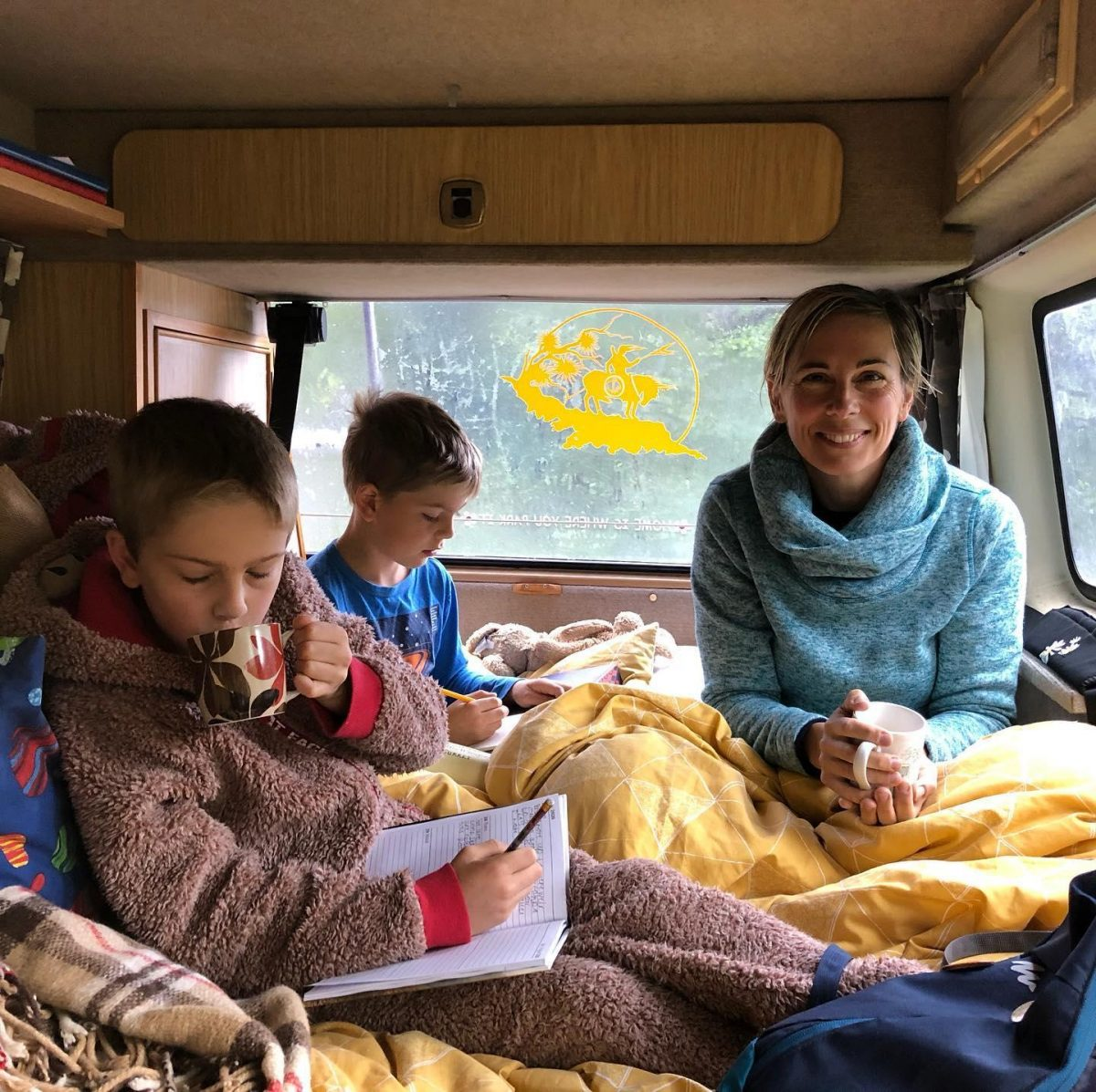 Scotland campervan Lazy mornings in the van Steven Hunt