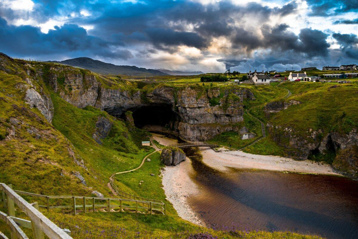Scotland Durness Smoo Cave