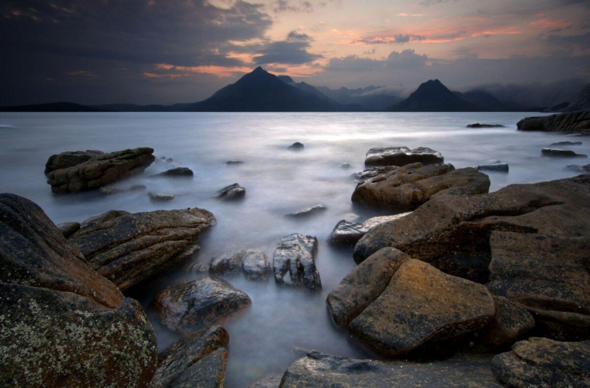 Scotland Isle of Skye Sunset evening Elgol