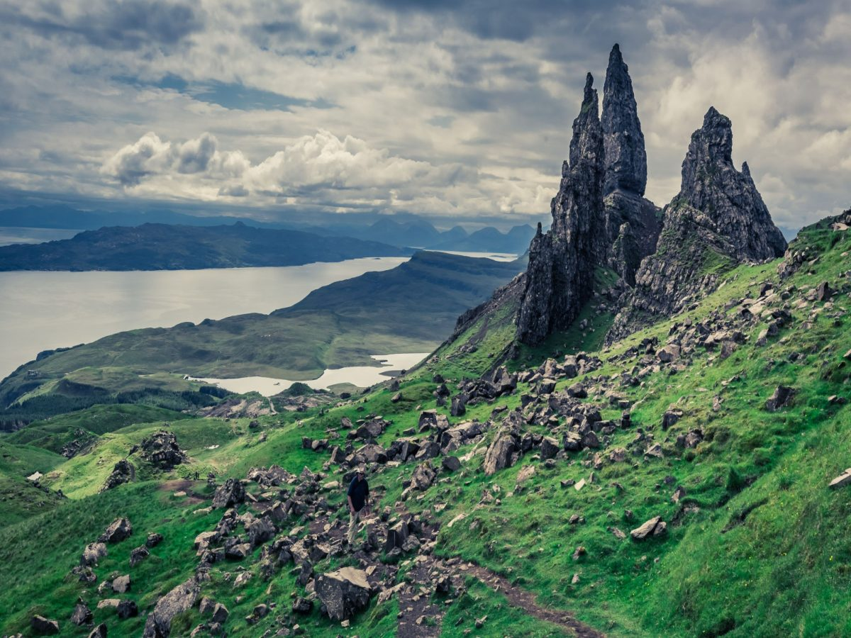 Scotland Skye Green Old Man of Storr